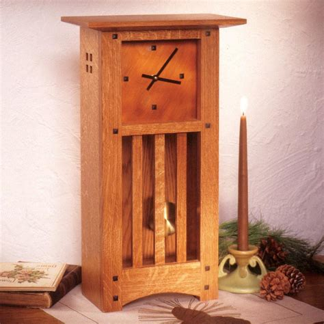 arts and crafts woodworking arts and crafts mantle clock woodworking plan from wood