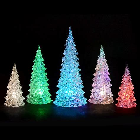 bright garden set of 5 led christmas trees buy online at