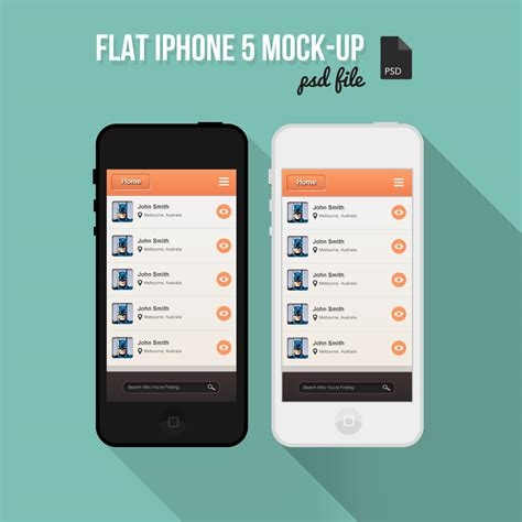 Free Home Design Software For Iphone Free Flat Iphone Mock Up Psd Designbump