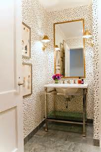 bathroom with wallpaper ideas leopard print cheetah pattern home decor interior design