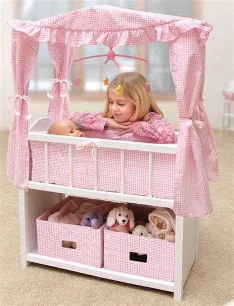 Badger Basket Canopy Doll Crib With Baskets Bedding Doll Crib Bedding