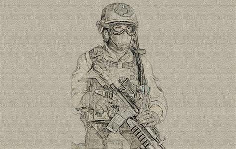 modern drawings modern warfare 2 soldier canvas sketch by zapdosify on