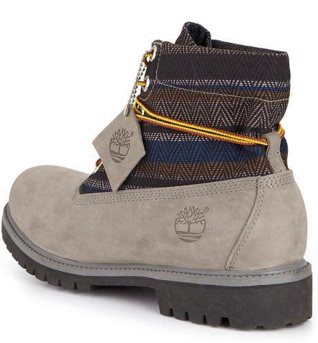 grey nubuck timberland boots timberland timberland roll top mens boots grey nubuck in