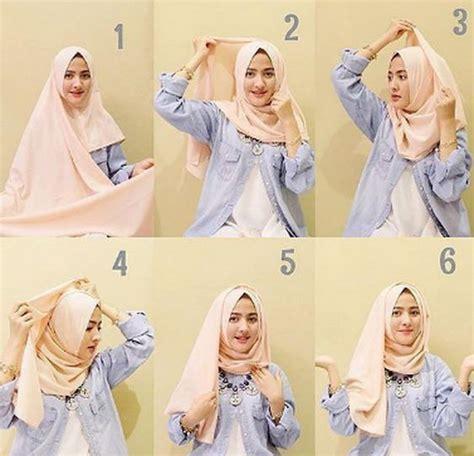 tutorial hijab pashmina monochrome simple 25 kreasi tutorial hijab pashmina simple terbaru 2018