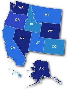 map of the west region of the united states the west region thinglink