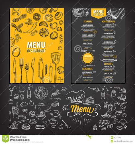 restaurant cafe menu template design stock vector