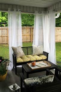 Covered Patio Curtains by Chippasunshine Our Back Porch Reveal