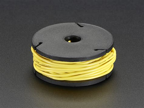 silicone cover stranded wire 25ft 26awg yellow id
