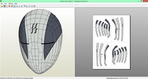 Anbu Mask Papercraft - mist anbu mask 2 papercraft by