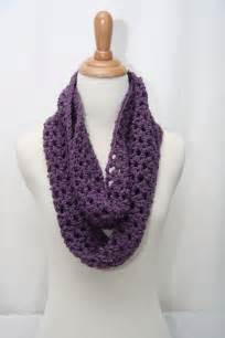How To Crochet Infinity Scarf Crochet Cowl Neck Scarf Aqua Purple And Black By Shiara On
