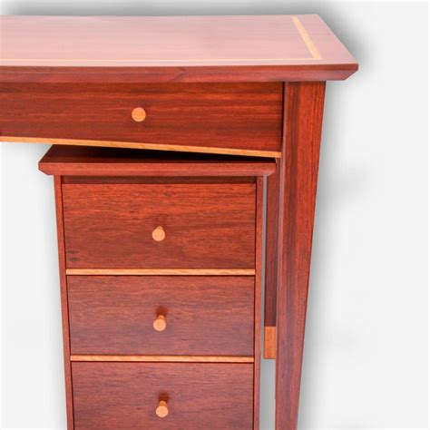 Classic Wood Desk by Classic Desk Drawers Treeton Wood Studio