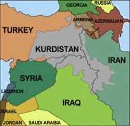 on the map kurdistan maps