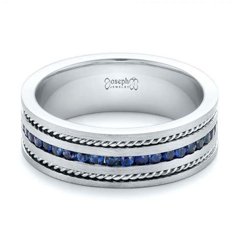 custom blue sapphire s band 102750