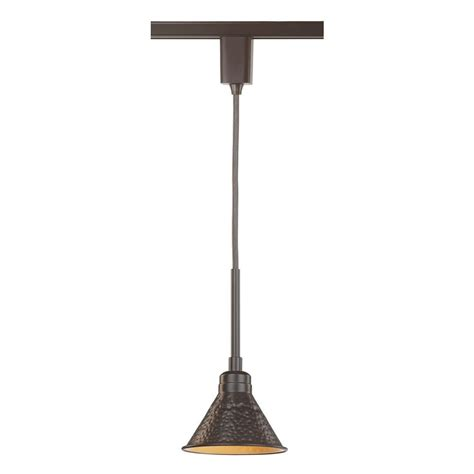 Track Light Chandelier Commercial Electric Led Linear Track Direct Wire Rustic Hammered Shade Pendant Ds4022abz The
