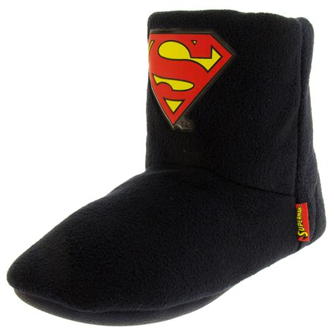 superman slippers mens superman bootie boot slippers warm lined novelty