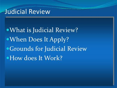 Sprott Mba Review by What Is Judicial Review Sprott Lab Rels June 16 2012