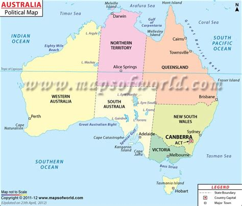 australia map with capital cities map of australia shows international boundary state