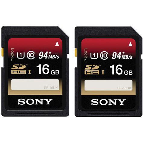 Memory Card Hp 16gb Class 10 sony 16gb sdhc memory card class 10 uhs i 2 pack sf16ux tq b h