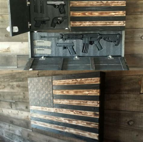 wood american flag gun cabinet burnt large concealment flag wooden american flag weapon