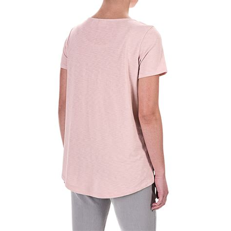 T Shirt Low And laurel high low slub jersey t shirt for