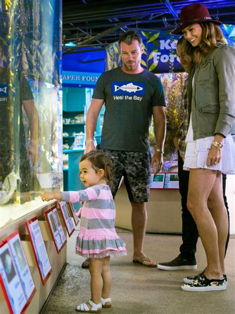 stacy keibler jared pobre daughter stacy keibler visits aquarium with daughter ava and they