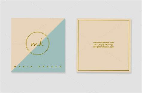 mini business card template mini square business card psd templates design graphic