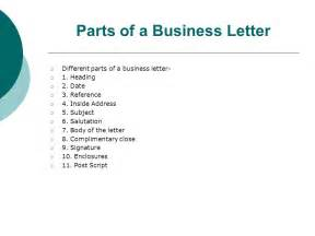 Parts Of A Business Letter In Business Correspondence Neslihan Kansu Yetkiner Ppt