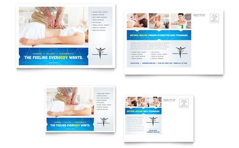Reflexology Massage Postcard Template Design Postcard Advertising Template