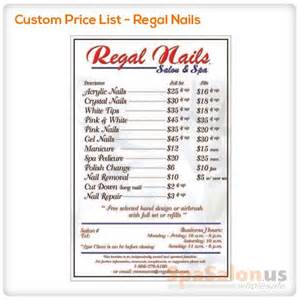 nail price list template nail salon price list template submited images nail services salon price list template microsoft office