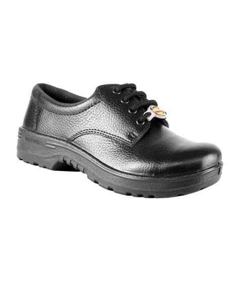 buy liberty black leather safety shoes for at