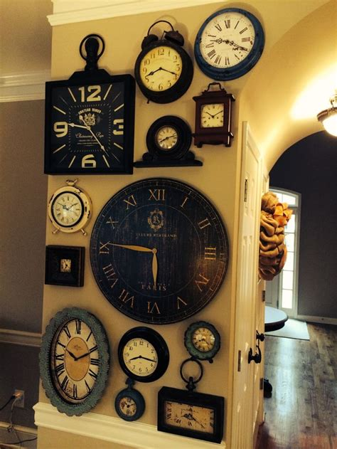 wall clock ideas 25 great ideas about wall of clocks on pinterest