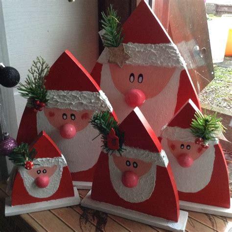 Nikolaus Basteln Holz by Weihnachtsm 228 Nner Nikol 228 Use Aus Holz Weihnachten