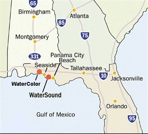 watersound florida map map of watersound fl pictures to pin on