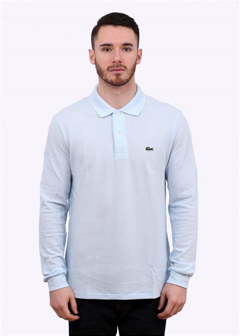 light blue sleeve polo lacoste sleeve polo shirt light blue