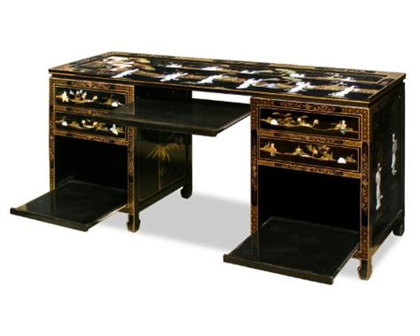 asian desk macaulay jefferson asian style computer desk black