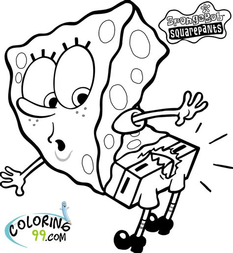 spongebob squarepants coloring pages team colors