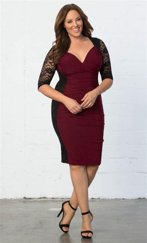 Dress Valentina valentina illusion dress black blush plusious