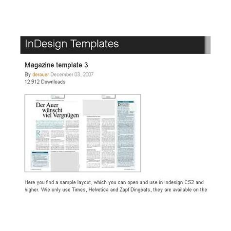 Magazine Format Template great free magazine layout templates use as is or get