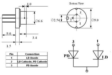 1n4007 diode pin configuration single mode laser diode at 1060nm