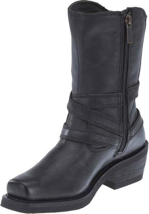 womens brown leather motorcycle boots harley davidson s ingleside 8 5 quot motorcycle boots