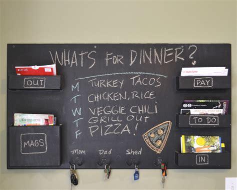 Kitchen Bill Organizer - chalkboard mail organizer large wall mounted mail pockets