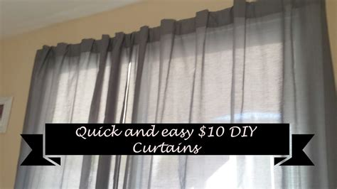 how to make simple curtains how to make quick and easy diy curtains for 10 youtube
