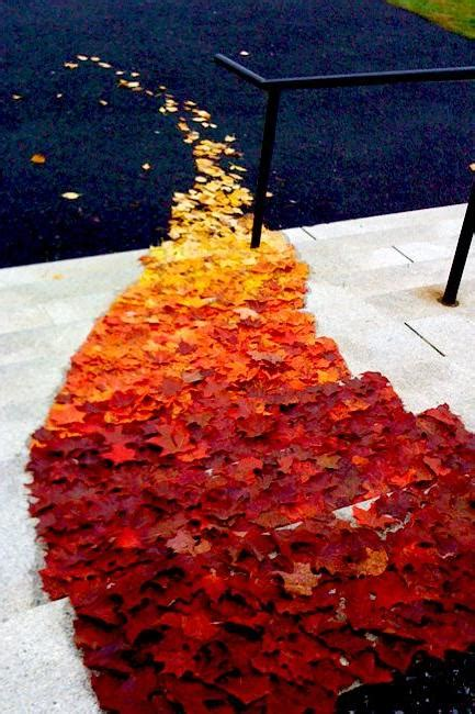 Wedding Aisle With Leaves by Fall Wedding Decor Ideas Southern Living