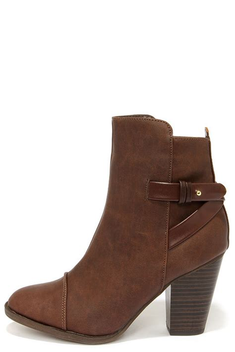brown boots high heel boots ankle boots 38 00