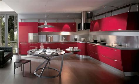 red kitchen design ideas muebles de cocina italianos