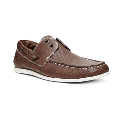 steve madden madden on boat shoes in brown for lyst
