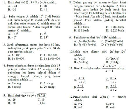 Mtk Kls 1 Smp Facil soal matematika smp kelas 7 kurikulum 2013 smartstaff