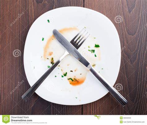 after dinner empty plate left after dinner stock images image 33349404