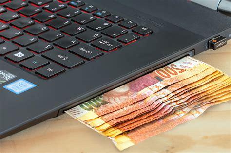 picture laptop computer money technology business
