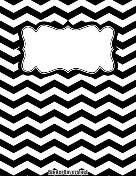 Spanish Home Decorating Ideas by Printable Black And White Chevron Binder Cover